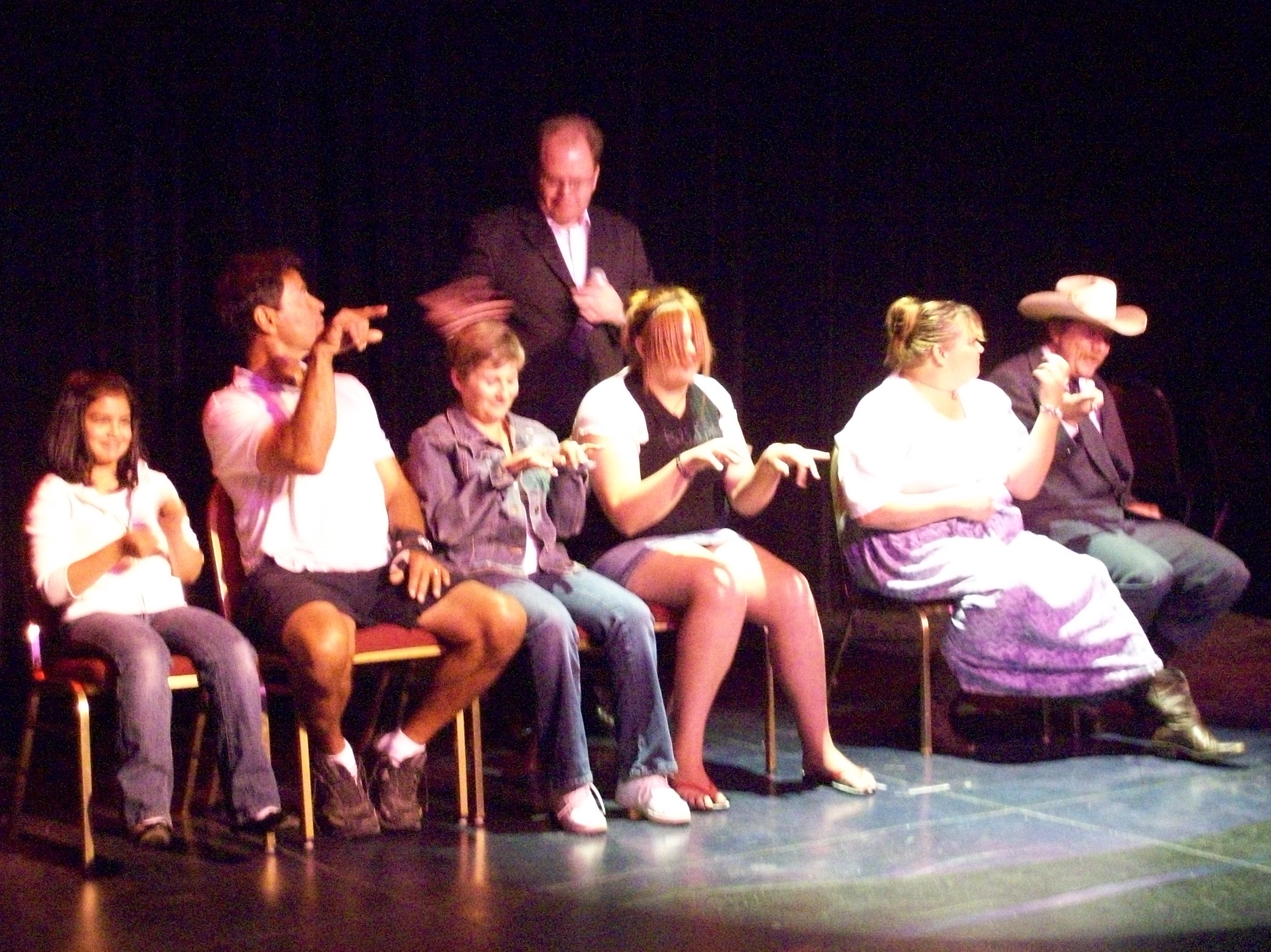 hypnotized in this reno show www.renohypnotist.com