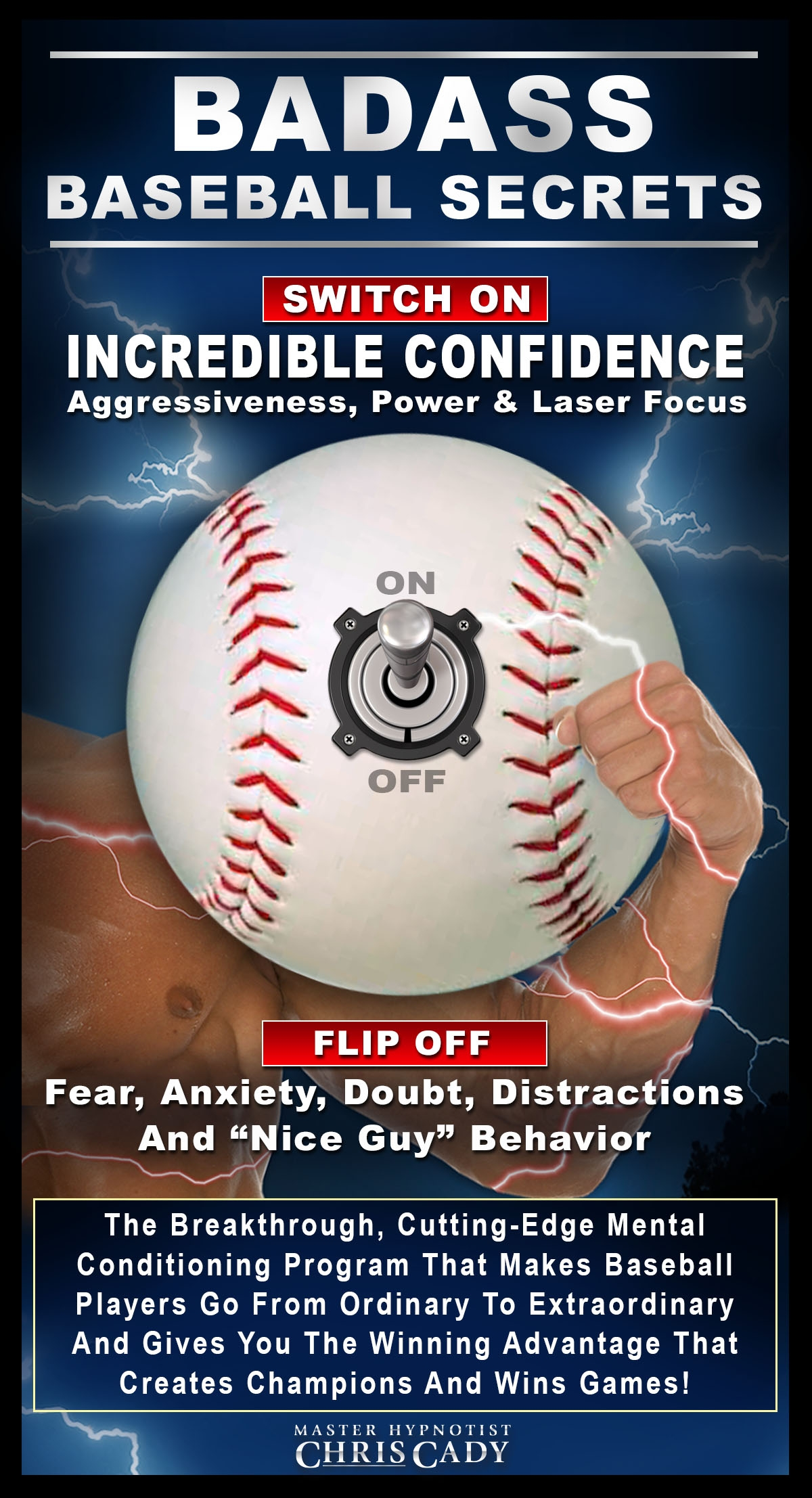 baseball players  badass baseball secrets with sports hypnosis mental game confidence cd