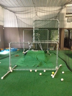baseball profesional sports pitching and hittng cage tunnel training center
