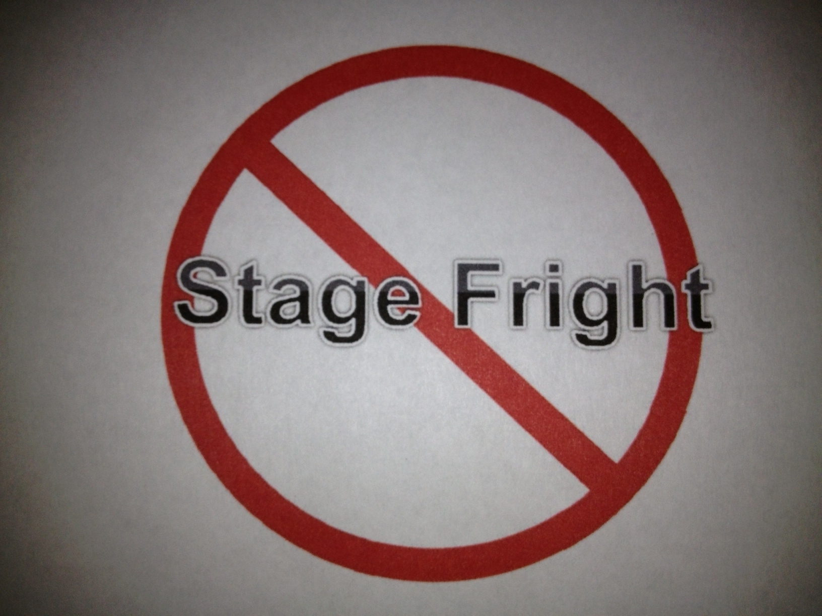 stage fright fear with hypnosis
